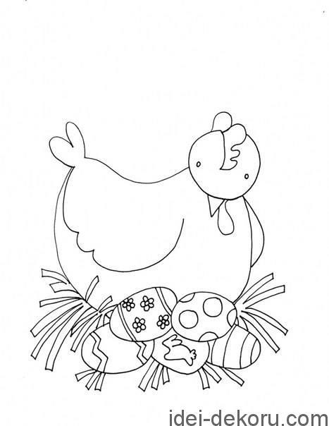 Великодні розмальовки для наймолодших Ідеї декору