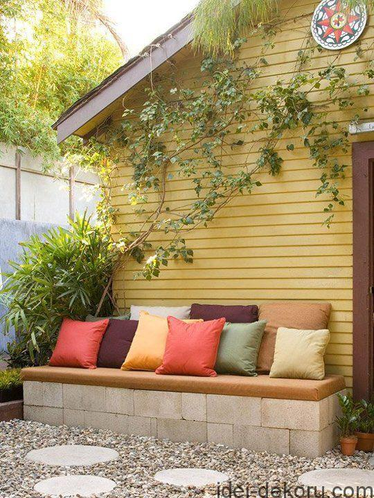 Concrete-Block-Garden-Bench