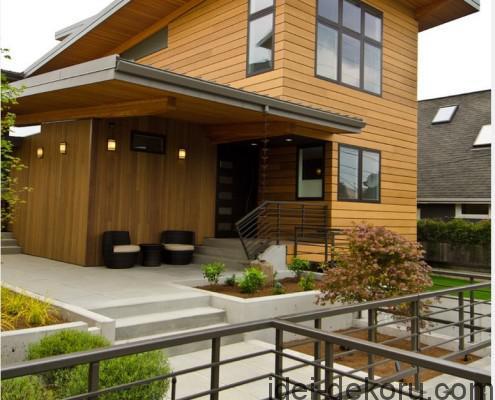 Фасад-облицован-блок-хаусом-495x400
