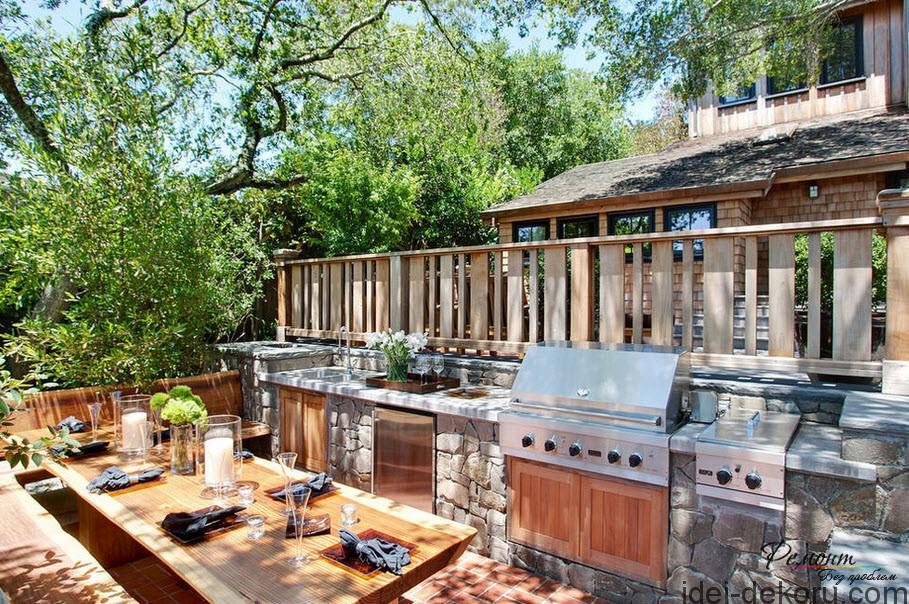 відкрита літня кухня неймовірний комфорт 17 фото ідеї декору