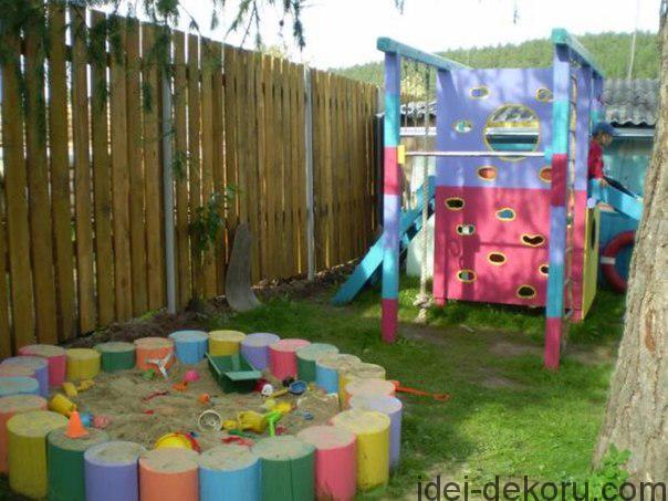 Фото детских площадок сделанных своими руками