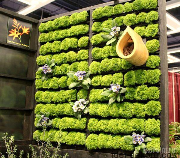 Combine-several-different-wooden-pallets-to-create-a-grand-living-wall-planter