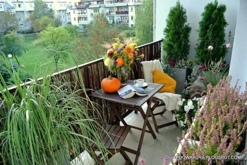 balkon jesienia