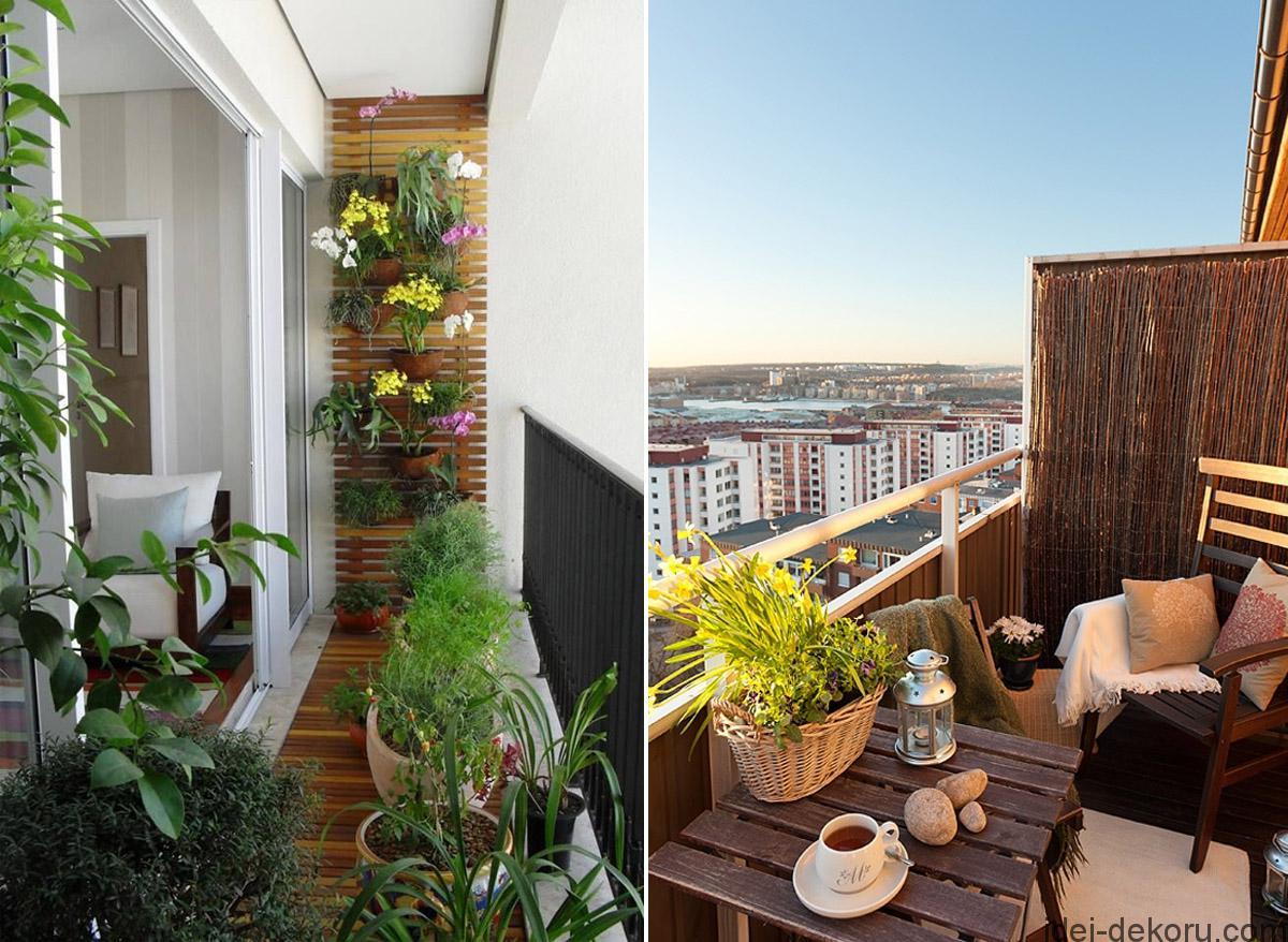 Відкритий балкон - Ідеї декору.