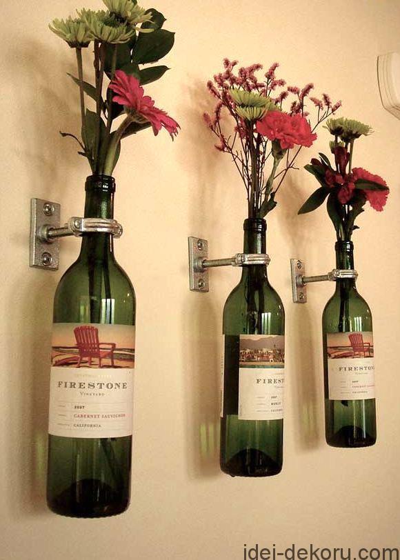 02-настенные-вазы-из-винных-бутылок