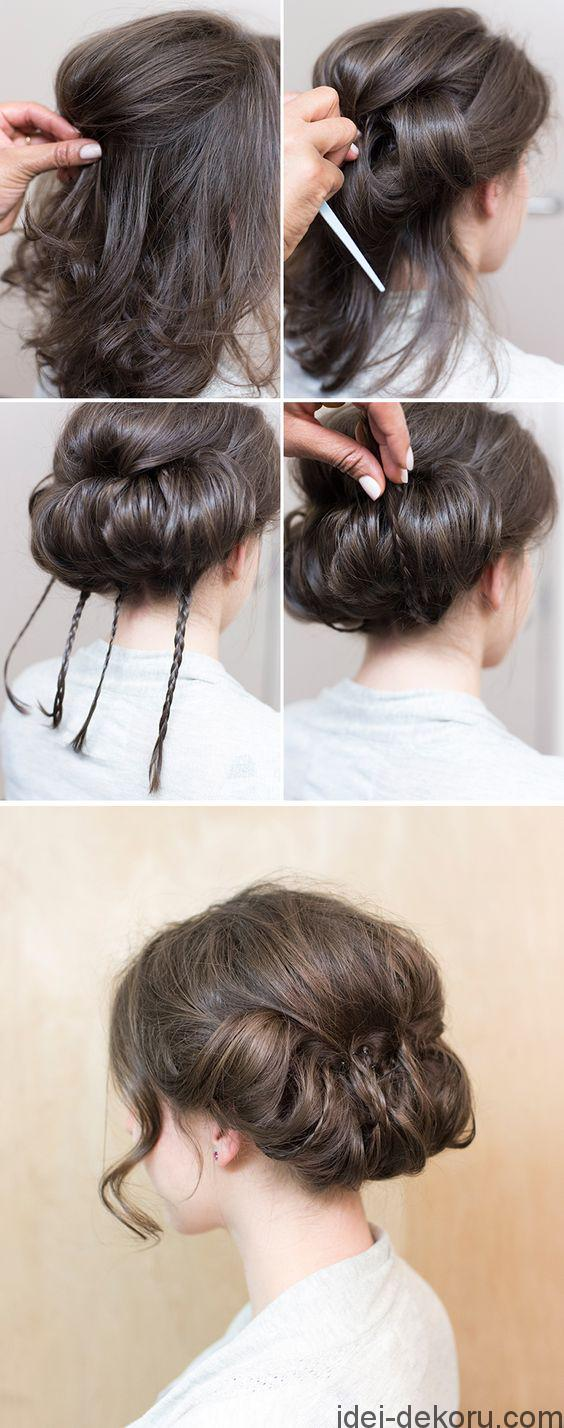 Tucked baby braids, elegant low tuck