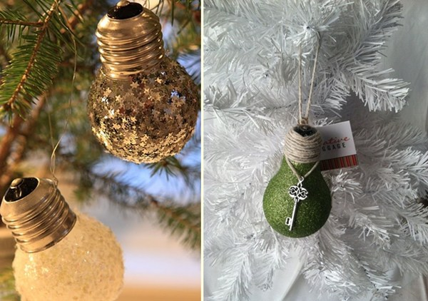 christmas-decorating-ideas-for-diy-tree-lights-made-of-burned-out-bulbs-glittere-effect-bulb-wrapped-in-burlap-christmas-key
