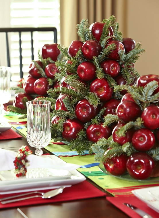 red-apple-winter-wedding-centerpieces