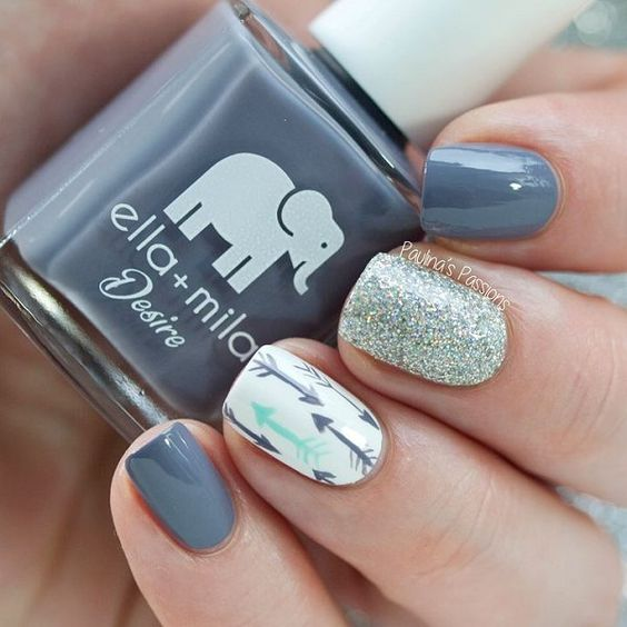 13 Nail Art Ideas For Teeny Tiny Fingertips Photos: Ідеї зимового манікюру