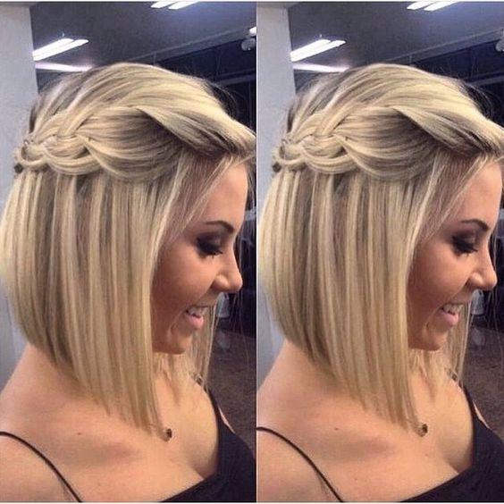 Прическа на короткий волос каре
