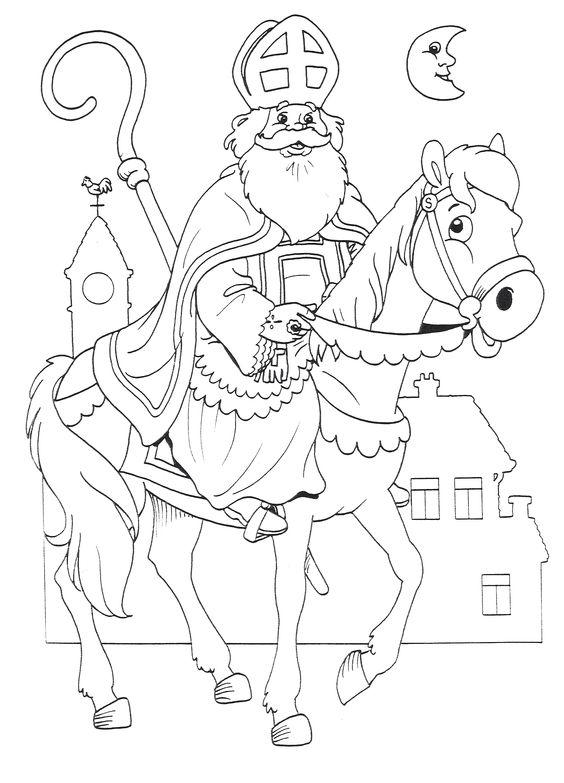 Розмальовки зі Св Миколаєм Ідеї декору