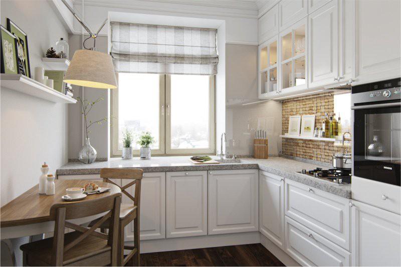 Маленькая-кухня-с-минимумом-декора