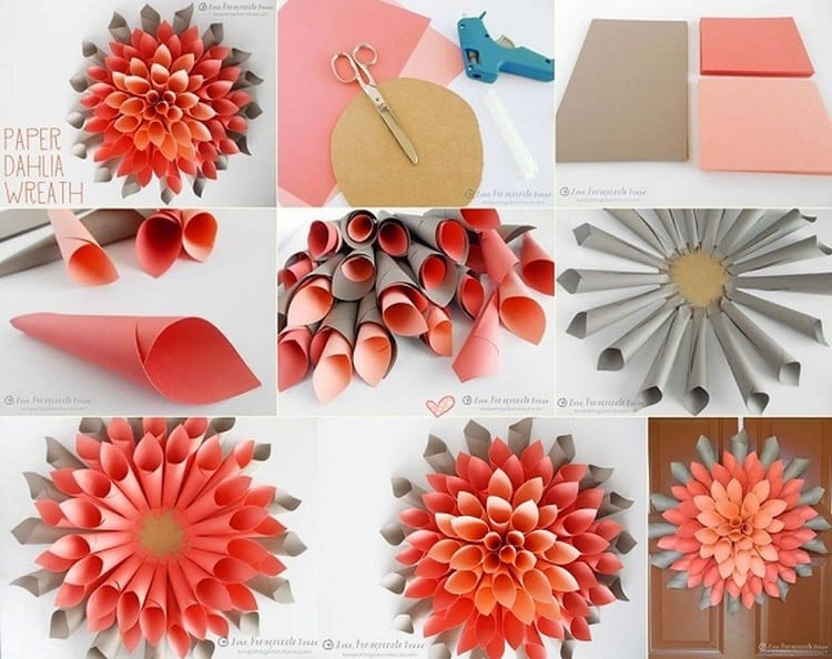 DIY-Paper-Wreath-Wall-Decor
