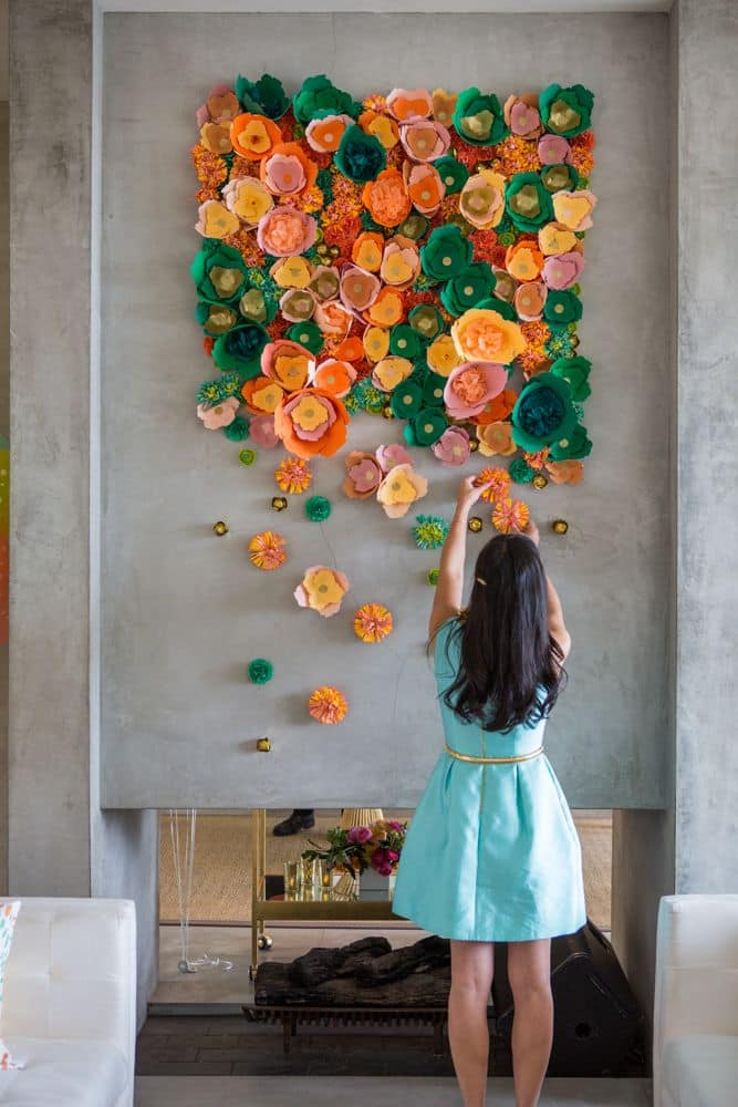 diy-wall-flower-art-homesthetics
