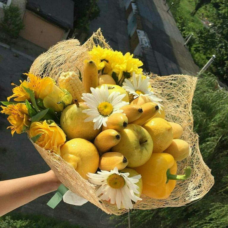 Как букет из фруктов своими руками