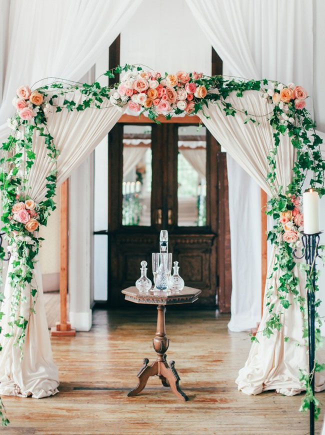014-Romantic-Draped-Ceremony-Arches-on-SouthBoundBride