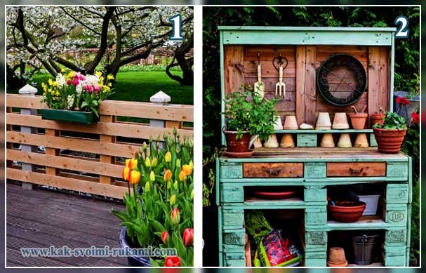садовая мебель из палетт
