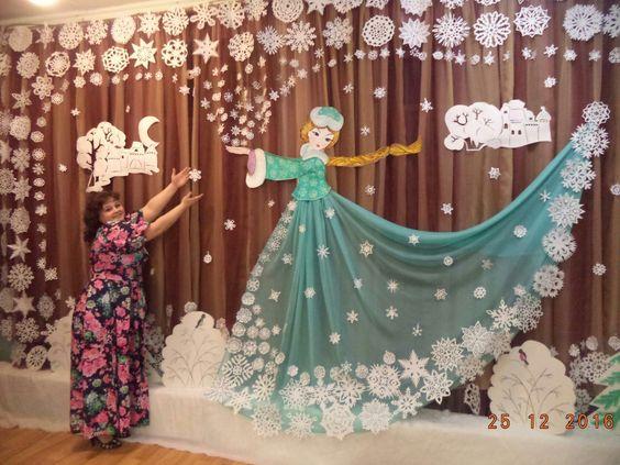 Новорічні декорації для садочку та школи Ідеї декору