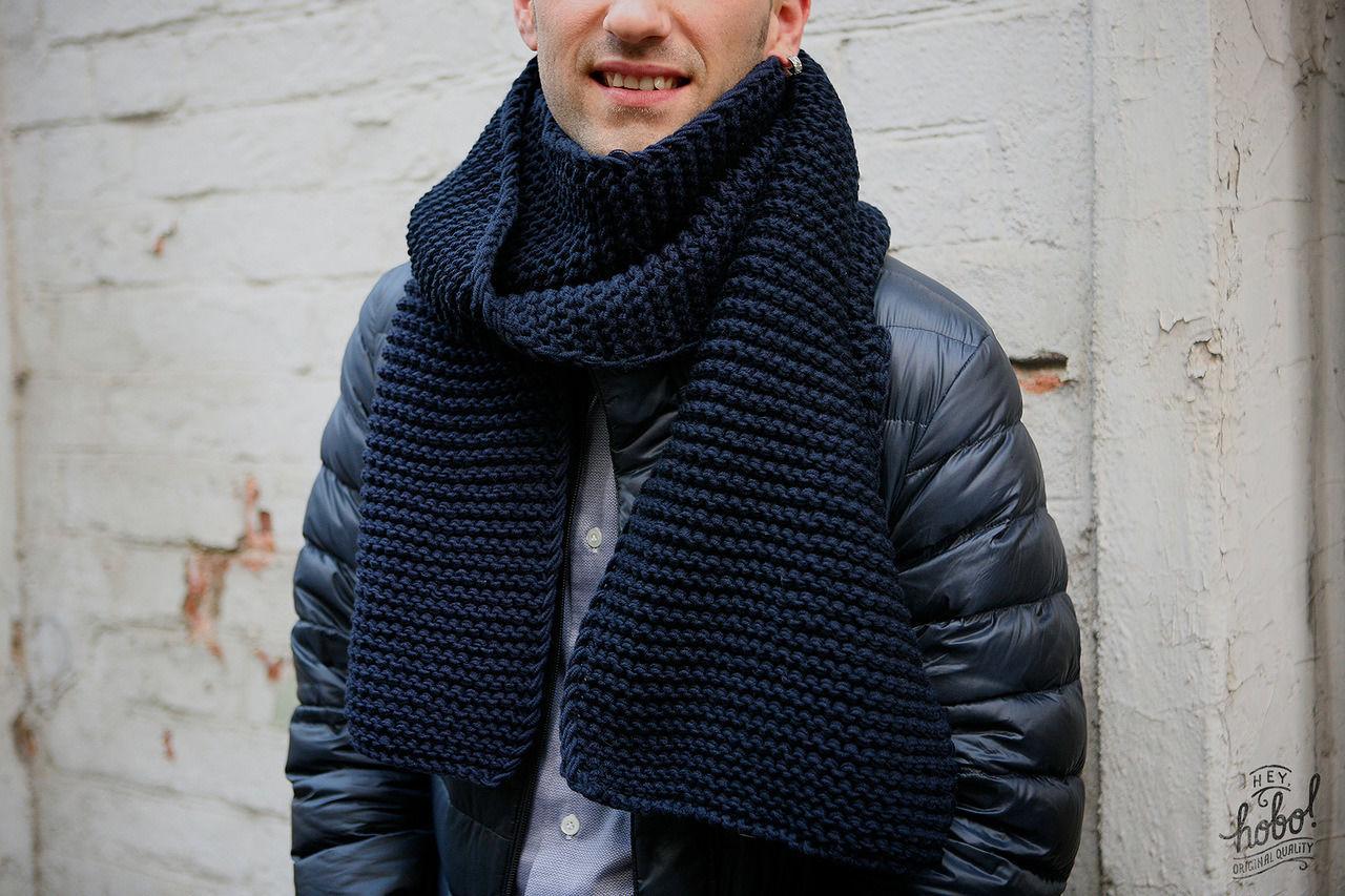 Вязание мужские модели шарфов