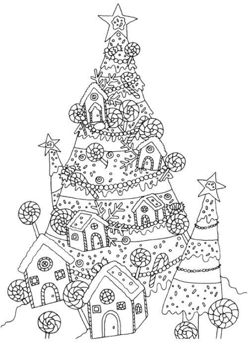 Новорічні розмальовки антистрес шаблони для друку Ідеї
